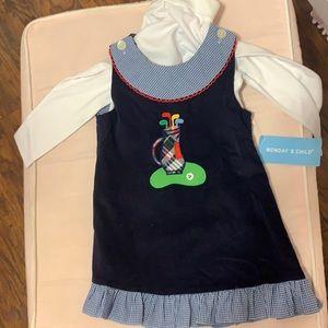 Toddler Golf Dress/Jumper with Turtleneck